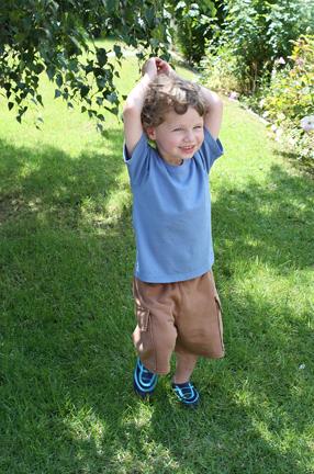 Ocean Blue Short Sleeve Tee Organic Childrens Clothing