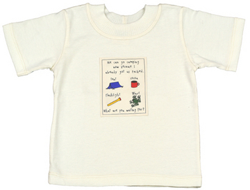 Organic Jersey T-Shirt for Children - Camping Patch