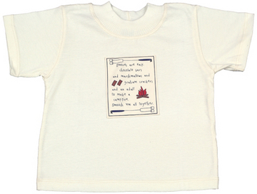 Organic Jersey T-Shirt for Children with S'Mores Patch