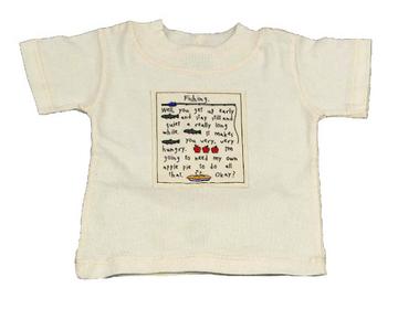 Organic Jersey T-Shirt for Children - Fishing! Patch