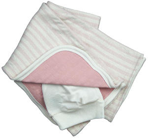 Reversible Baby Blanket -Pink/Natural  Only $18 (Reg $26) | Sale!