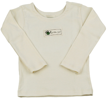 Simply natural tee in organic rib for girls
