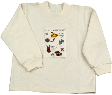 Pirates!  Long Sleeve - Natural | Organic Childrens Tees