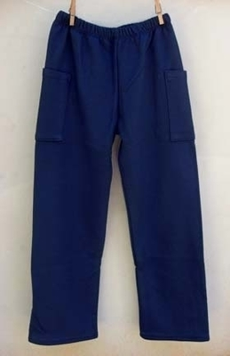 Navy Blue French Terry Cargo Pants | Boys Organic Clothing