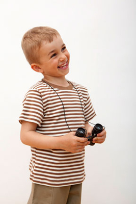 Short Sleeve Cocoa/Natural Striped Tee | Organic Childrens Tees