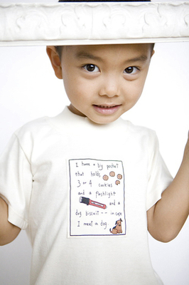 Organic Jersey T-Shirt for Children - Big Pocket Patch