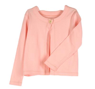 One-Button Cardigan | Girls Organic Clothing