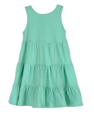 Aqua Sleeveless Flounce Dress | Girls Organic Clothing