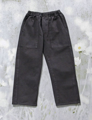 Durable organic twill pant for boys sizes 12m to 10 yr