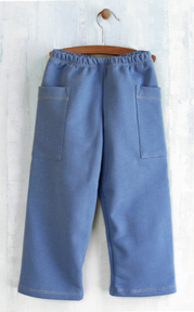 French Terry Blue Cargo Pants | Boys Organic Clothing