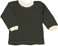 Image Striped Long Sleeve Baby Tee