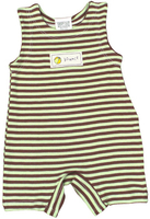 Image Organic Baby/Toddler Romper - Cocoa/Lime Stripe