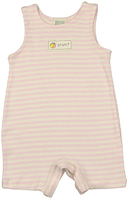 Image Organic Baby/Toddler Romper - Pink/Natural Stripe