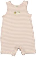 Image Organic Baby/Toddler Romper - Pink/Natural Stripe