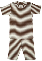 Image Organic Summer Pajamas in Cocoa Stripe