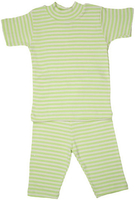 Image Organic Summer Pajamas in Lime Stripe