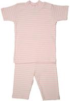 Image Organic Summer Pajamas in Pink Stripe