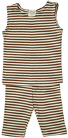 Image Summer PJ's Tank Top Striped Cocoa/Natural