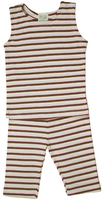 Image Summer PJ's Tank Top Striped Cocoa/Pink/Natural