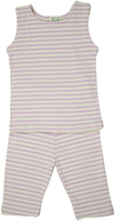 Image Summer PJ's Tank Top Striped Lavender/Natural