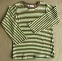 Image Long Sleeve Cocoa/Lime Striped Tee (no cuff)