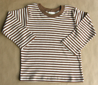 Image Long Sleeve Cocoa/Natural Striped Tee (no cuff)