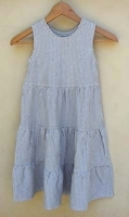 Image Organic Tiered Heather Gray Striped Dress