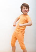 Image Organic Summer Pajamas in Orange Creme