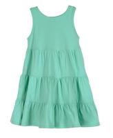 Image Aqua Sleeveless Flounce Dress