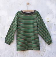 Image Long Sleeve Green/Yellow/Gray Striped Tee