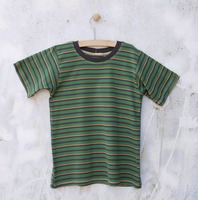 Image Short Sleeve Green/Yellow/Gray Striped Tee