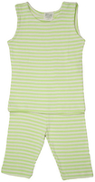 Image Summer PJ's Tank Top Striped Lime/Natural