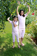 Image Organic Summer Pajamas in Lavender Stripe